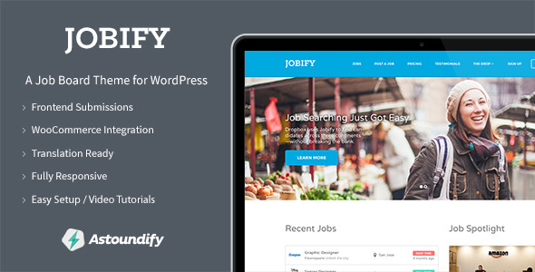 Create a job Portal for your website using Jobify WordPress theme