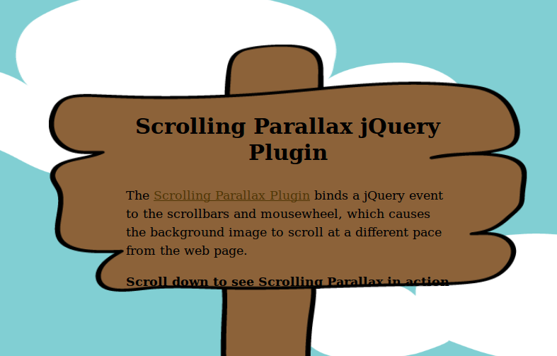 Scrolling Parallax JQuery