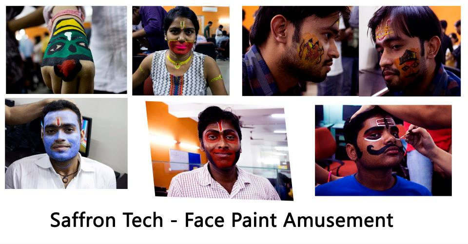 Saffron Tech Face Pain Dussehra